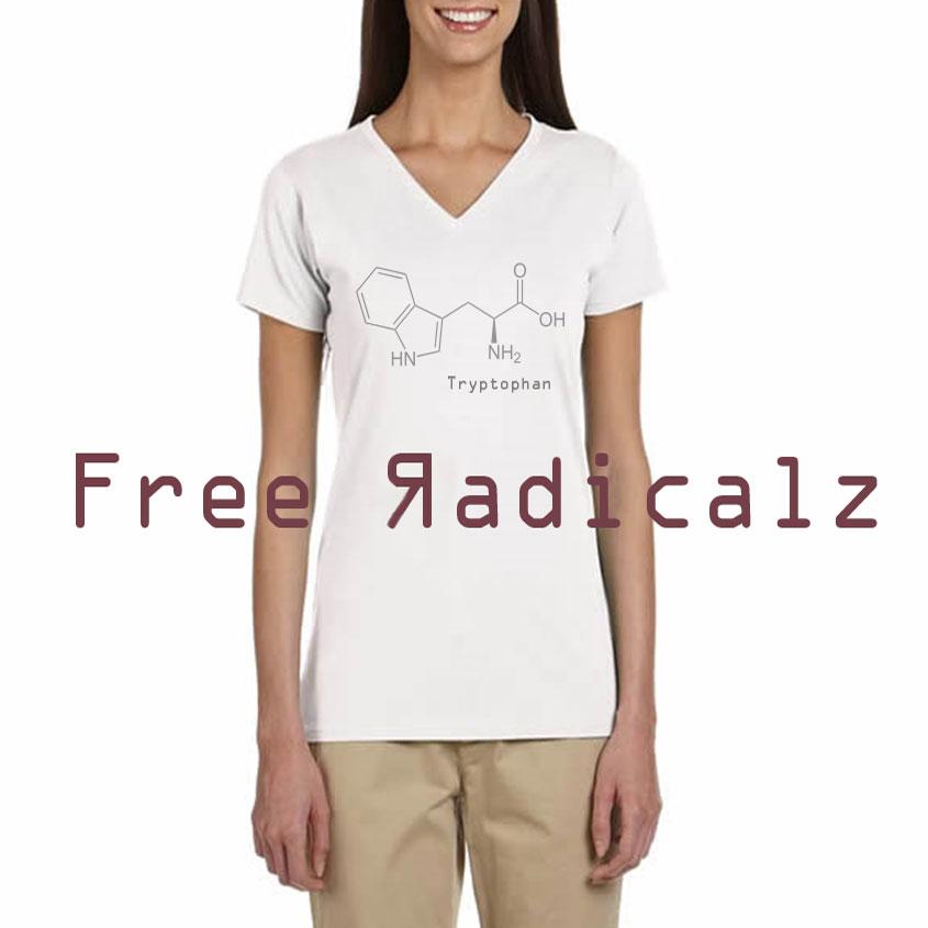 free-radicalz-tryptophan-womens-vneck-organic-cotton-tshirt
